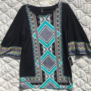ALFANI TUNIC DRESS SLIGHT BELL SLEEVE 3/4